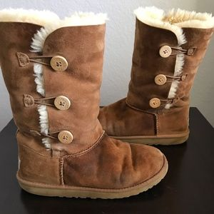 UGG 1962 Bailey Chestnut 3Button Tall Winter Boots